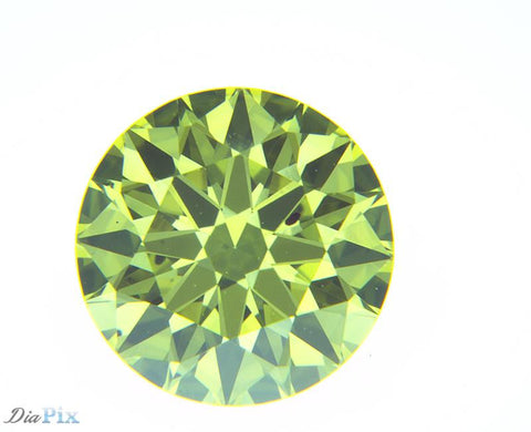 0.60 Ct. Round Brilliant SI1 Citrus Fancy Vivid Greenish-Yellow
