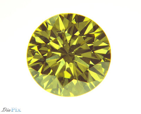0.61 Ct. Round Brilliant SI2 Fancy Vivid Yellow