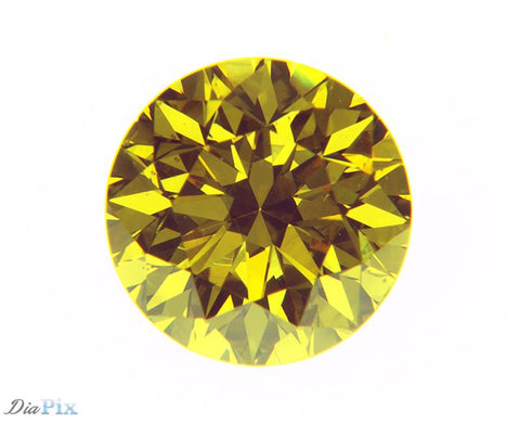 0.66 Ct. Round Brilliant VS2 Fancy Intense Orangy Yellow