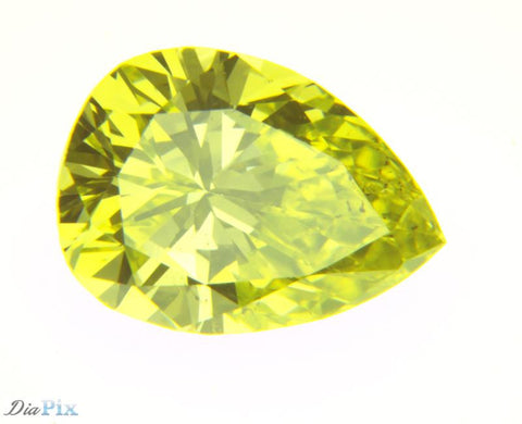 0.88 Ct. Pear SI1 Fancy Yellow