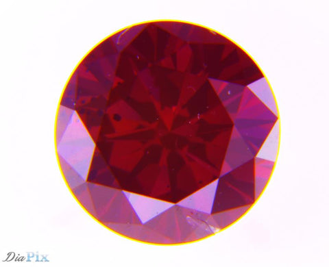 0.56 Ct. Round Brilliant SI2 Fancy Intense Purplish Red