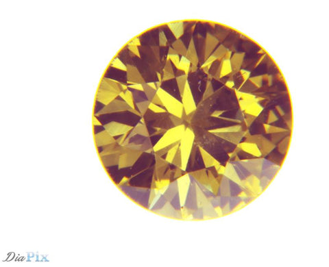 0.23 Ct. Round Brilliant VS2 Fancy Vivid Orangy Yellow