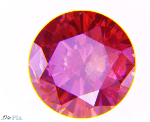 0.43 Ct. Round Brilliant I1 Fancy Deep Pink