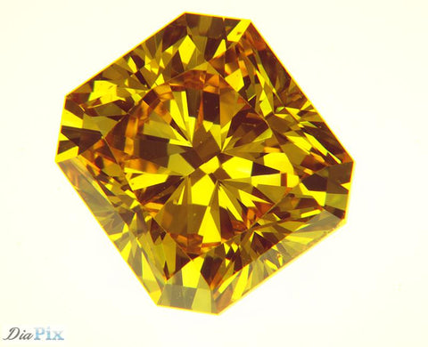 1.29 Ct. Radiant Brilliant SI1 Honey Vivid Yellow-Orange