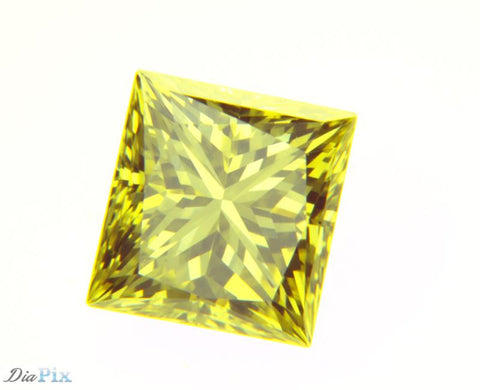 0.51 Ct. Princess VS1 Fancy Intense Yellow