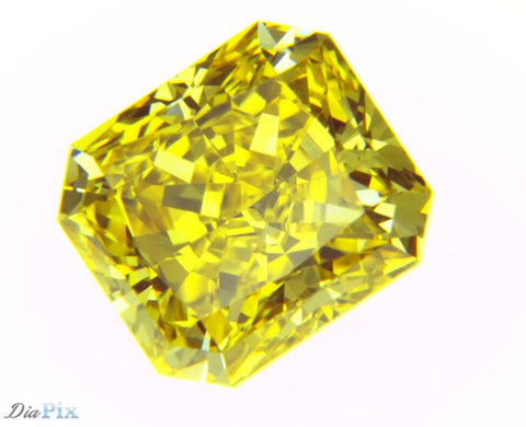 1.78 Ct. Radiant Brilliant VS1 Sunlit Vivid Yellow