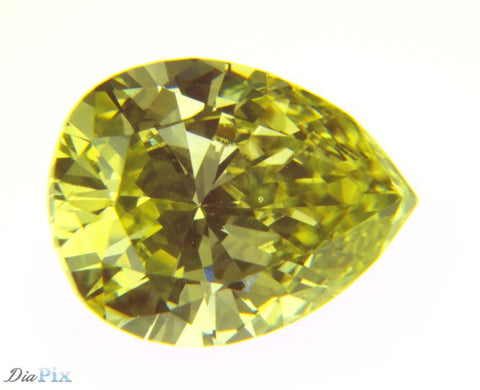 0.89 Ct. Pear VS1 Fancy Yellow