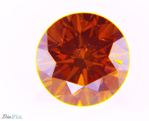 0.50 Ct. Round Brilliant VVS2 Fancy Deep Pink-Orange