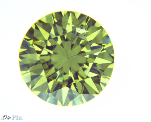 0.67 Ct. Round Brilliant SI1 Fancy Vivid Greenish Yellow