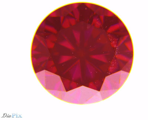 0.61 Ct. Round Brilliant SI1 Fancy Deep Purplish Red