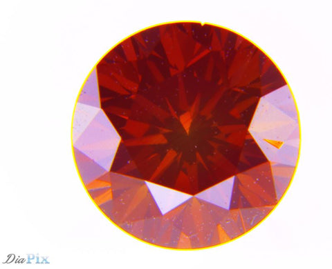 0.61 Ct. Round Brilliant SI2 Fancy Purple Red