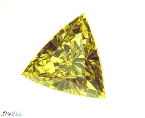 0.34 Ct. Triangle VS1 Fancy Intense Yellow