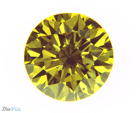 0.52 Ct. Round Brilliant VS2 Fancy Intense Orangy Yellow