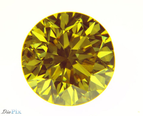 0.68 Ct. Round Brilliant I1 Fancy Vivid Orangy Yellow