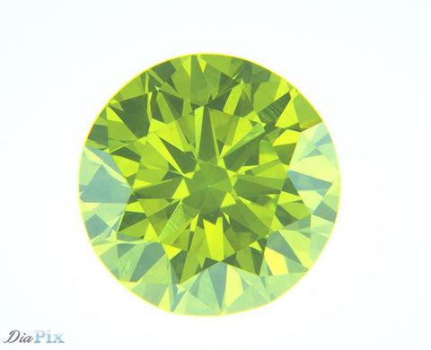 0.64 Ct. Round Brilliant VVS2 Citrus Fancy Vivid Green-Yellow