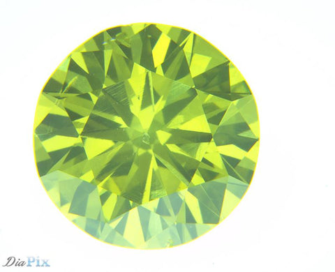 0.73 Ct. Round Brilliant SI1 Citrus Fancy Vivid Greenish-Yellow