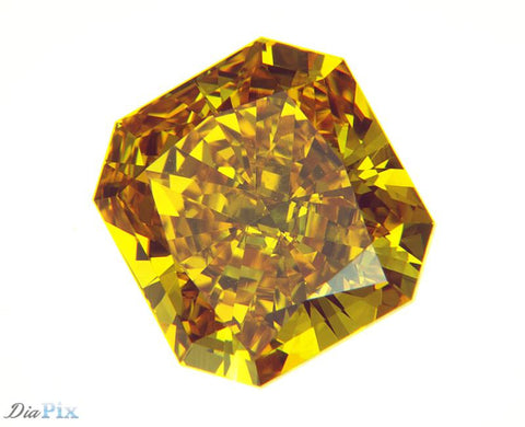 1.02 Ct. Radiant Cut Brilliant VS1 Honey Vivid Yellowish Orange