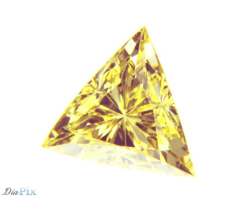 0.35 Ct. Triangle VS1 Fancy Intense Yellow