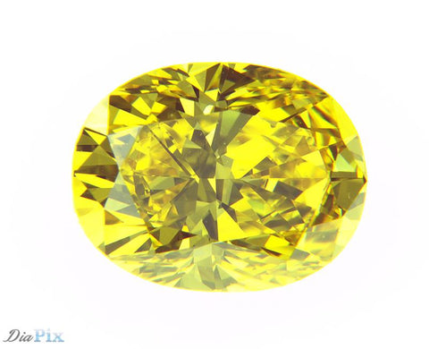 1.11 Ct. Oval Brilliant VVS2 Sunlit Vivid Yellow
