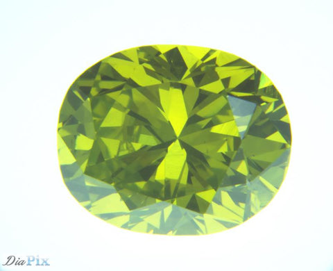 1.94 Ct. Oval Brilliant SI2 Citrus Fancy Vivid Green-Yellow