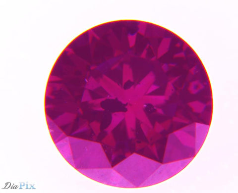 0.45 Ct. Round Brilliant I2 Fancy Deep Purplish Pink