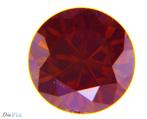 0.70 Ct. Round Brilliant SI2 Fancy Dark Brownish Red
