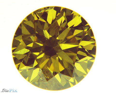 1.32 Ct. Round Brilliant I1 Fancy Intense Yellow