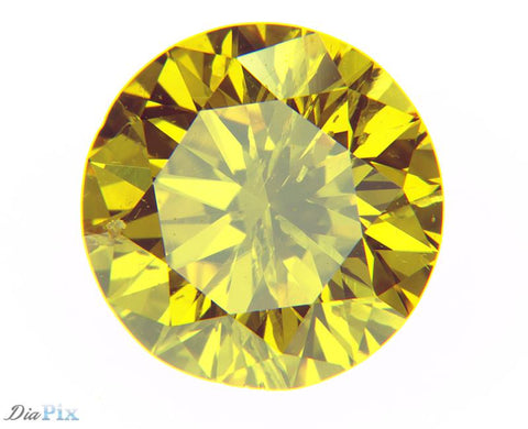 0.62 Ct. Round Brilliant I1 Fancy Vivid Orangy Yellow