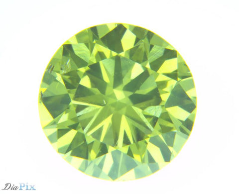 0.77 Ct. Round Brilliant SI1 Fancy Vivid Greenish-Yellow