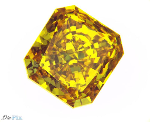 1.12 Ct. Radiant Brilliant VS2 Honey Vivid Yellow-Orange