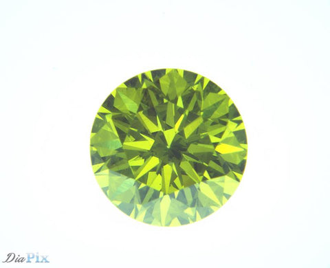 1.11 Ct. Round Brilliant VS2 Citrus Fancy Vivid Green-Yellow