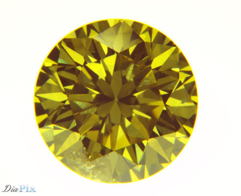 0.89 Ct. Round Brilliant I1 Fancy Vivid Yellow