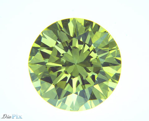 0.86 Ct. Round Brilliant VS1 Fancy Vivid Greenish Yellow