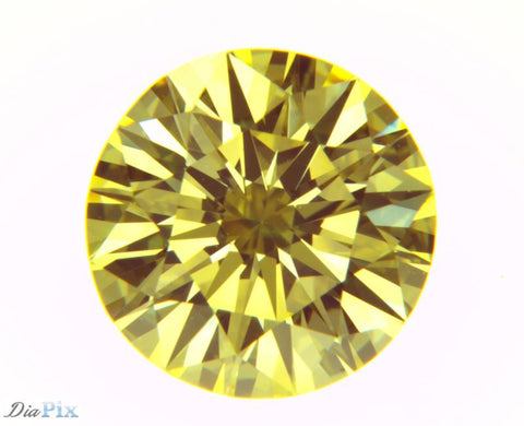 1.34 Ct. Round Brilliant VVS2 Sunlit Intense Yellow