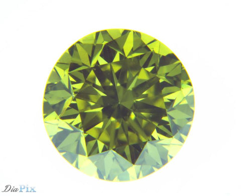 0.62 Ct. Round Brilliant VS1 Fancy Vivid Greenish Yellow