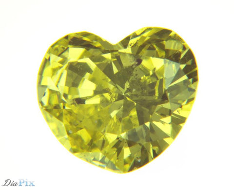 0.88 Ct. Heart I1 Fancy Yellow