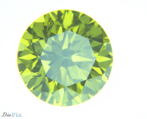0.76 Ct. Round Brilliant VS1 Fancy Vivid Greenish Yellow