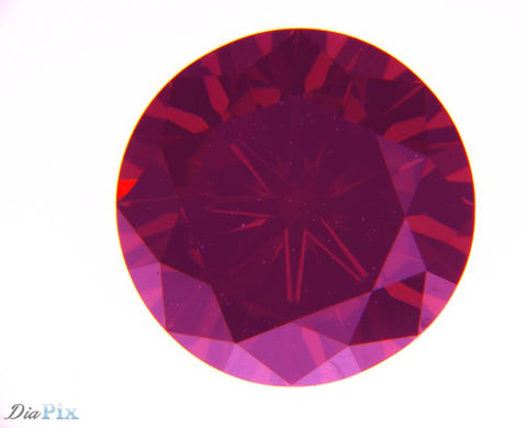 1.15 Ct. Round Brilliant VVS2 Fancy Deep Reddish Orange