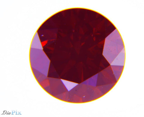 0.57 Ct. Round Brilliant SI2 Fancy Deep Brownish Purplish Pink