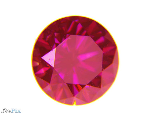 0.27 Ct. Round Brilliant SI1 Fancy Intense Purple Pink