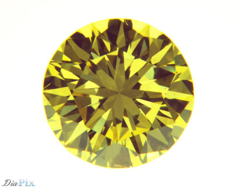 0.74 Ct. Round Brilliant SI2 Fancy Vivid Orangy Yellow