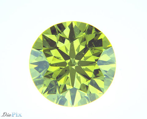 0.62 Ct. Round Brilliant SI1 Fancy Vivid Greenish-Yellow
