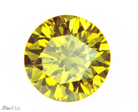 1.18 Ct. Round Brilliant VVS2 Sunlit Vivid Yellow