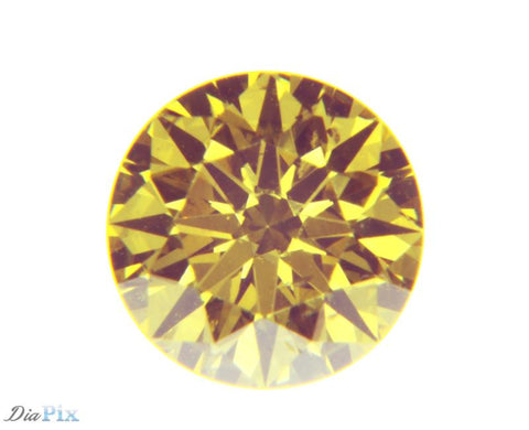 0.51 Ct. Round Brilliant I1 Fancy Intense Yellow