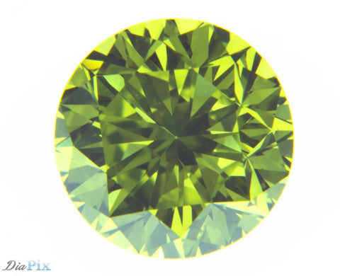 1.00 Ct. Round Brilliant VS2 Fancy Vivid Greenish Yellow