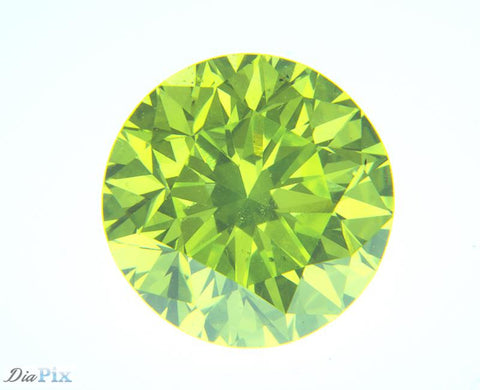 0.70 Ct. Round Brilliant VS2 Citrus Fancy Vivid Green-Yellow
