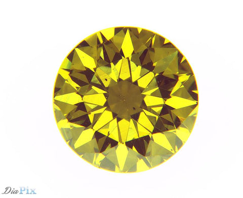 0.52 Ct. Round Brilliant SI1 Fancy Vivid Orangy Yellow