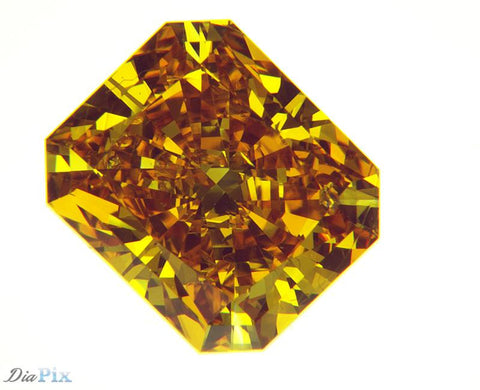 1.52 Ct. Radiant Brilliant SI1 Honey Vivid Yellowish-Orange
