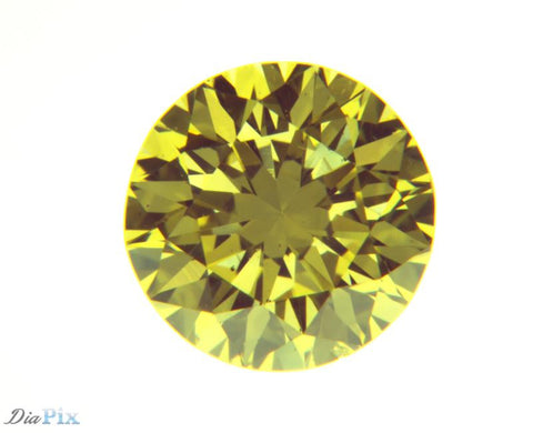 0.53 Ct. Round Brilliant VS2 Fancy Intense Yellow