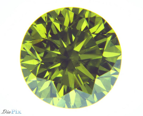 1.03 Ct. Round Brilliant VS2 Fancy Vivid Yellowish Green